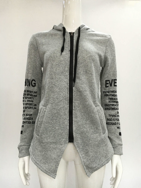 2018 Autumn Winter Women Hoodies Sweatshirts Letter Print Long-sleeved Harajuku Pullovers Plus Size Irregular Casual Sportswear