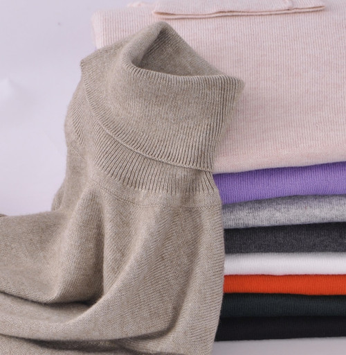 Women Soft Cashmere Elastic Turtleneck Sweaters and Pullovers Autumn Winter Sweater Female Wool Knitted Brand Pullover