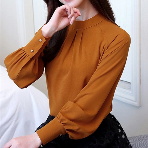 New Autumn 2018 Womens Tops and Blouses Long Sleeve Chiffon Blouse Mujer Fashion Women Shirts Ladies Tops Shirt Camisa Feminina