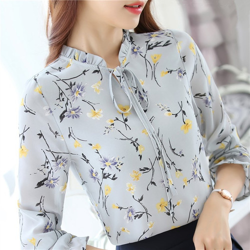 Blusas Femininas 2018 Fashion Floral Tops And Blouses