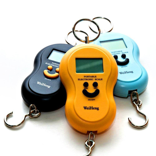 Portable Digital Pocket bag Hanging Smiley Scale 50KG