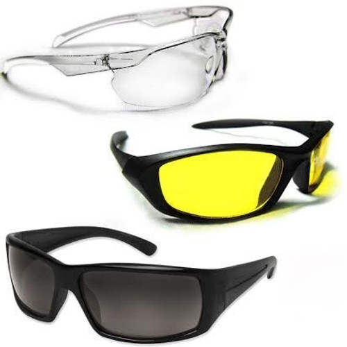 HD Vision Sunglasses Set of 3 Wrap Around Combo  + 01 FREE Alluma Wallet (Night Vision Sun glass, UV Sun glass + Alluma Wallet)