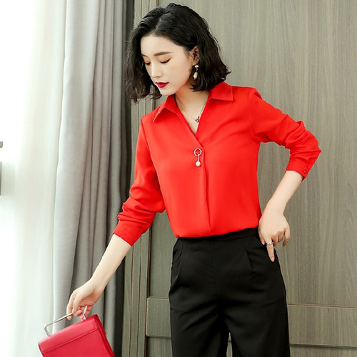 New Autumn Spring Womens Tops and Blouses Ladies Long Sleeve 2018 Shirts Casual Chiffon Blouse Work Wear Office Blusas Femininas