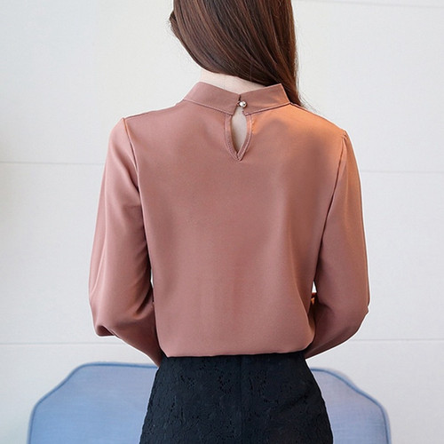 2018 Plus Size Chiffon Shirts Women Fashion Casual Long Sleeve Blouse Elegant Women's Blusas Office Lady Work Wear Blouse Tops