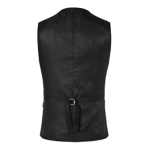 Luxury Gold Printed Steampunk Vest Men 2017 Brand New Night Club Prom Suit Vest Men Waistcoat Wedding Formal Dress Vests for Men