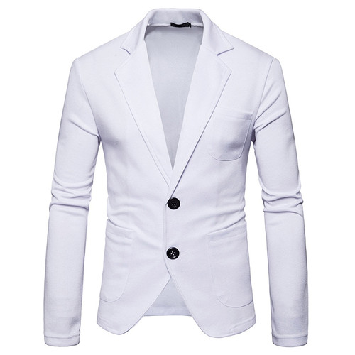 Mens Knitting Suits Blazers 2018 Fashion Casual Slim Fit Single Breasted Two Button Suit Blazer Jacket Men Terno Masculino 2XL