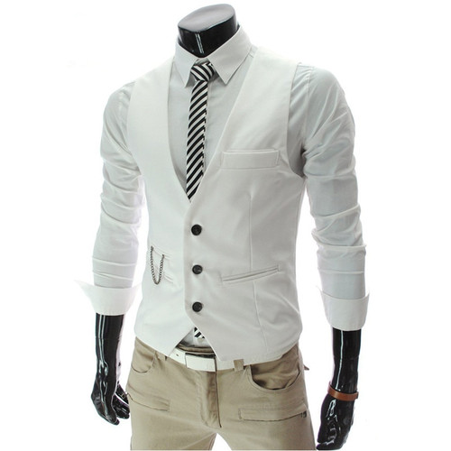 2018 Fashion Suit Vest Men Hot Sale Top Design Formal Dress Vest Brand Clothing Quality Fitness Sleeveless Jacket Waistcoat Men