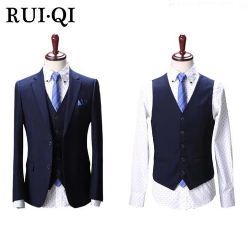 2019 Suit Men Business Elegant Slim Temperament Suit For Men's Three-Piece Men Suit Jacket + Pants + Vest Ternos Masculino 8031
