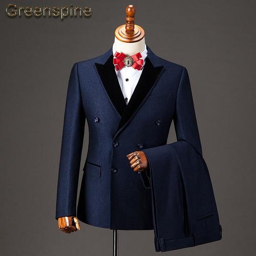 2 Pieces Wedding Men Suit 2018 New Fashion Party Dress Slim Fit Costume Homme Men's Suit with Pants ZM455