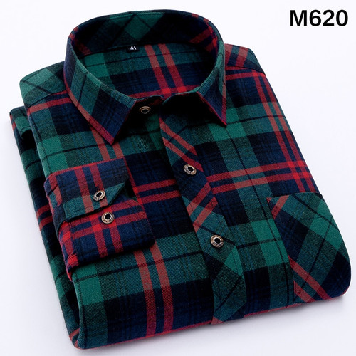 Men's Shirt 2019 Spring Autumn New Male Long Sleeve Flannel Plaid Shirt Brand Men Office Style Business Casual Shirts Plus Size