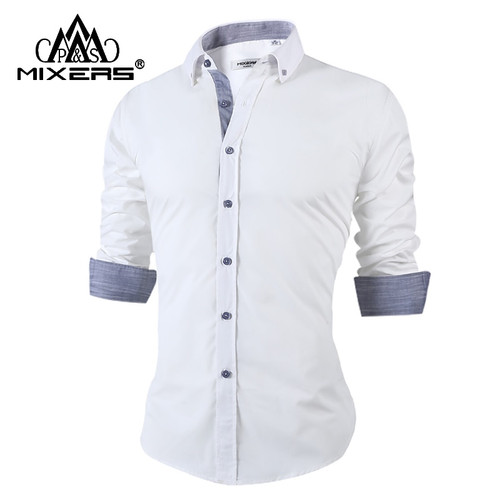 Casual Shirts Supply Cotton Mens Dress Shirts Long Sleeve Shirt Korean Fashion Slim Fit Camisa Masculina Smart Casual White Pink Shirt Chemise Homme To Enjoy High Reputation In The International Market Back To Search Resultsmen's Clothing