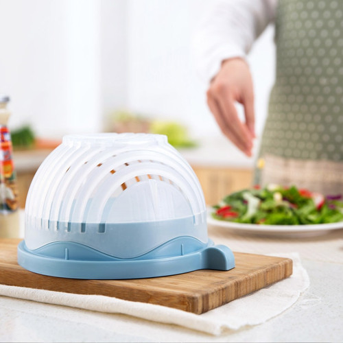 60 Second Salad Cutter Bowl Kitchen Gadget Vegetable Fruits Slicer Chopper Washer And Cutter Quick Salad Maker Kitchen tool