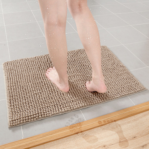 Bath Mat Microfiber Mat In Bathroom Bath Mats Bathroom Carpet Soft Mat For Tiolet Absorbent Bathroom Rug Solid Anti Slip