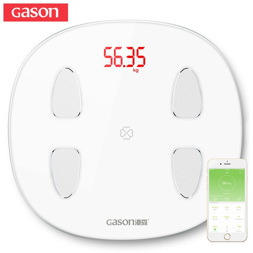 GASON S6 Body Fat Scale Floor Scientific Smart Electronic LED Digital Weight Bathroom scale Balance Bluetooth APP Android or IOS