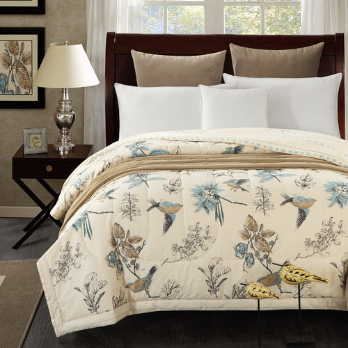 1PCS Cotton the lovely bird bedspread/summer blanket Duvet Quilt/150x200cm and 200x230cm cotton bed cover