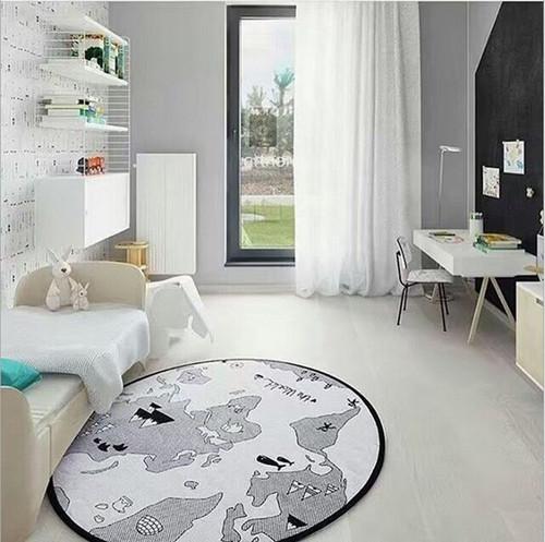 Round Map Pattern Baby Blanket  Game Mat  Kid Crawling Carpet baby Bedding Stroller Blanket best Children's Room decration