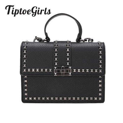 2018 Brand Women Bags Luxury Handbags Women Messenger Bags Cover Rivet Bag Girls Fashion Shoulder Bag Ladies PU Leather Handbags