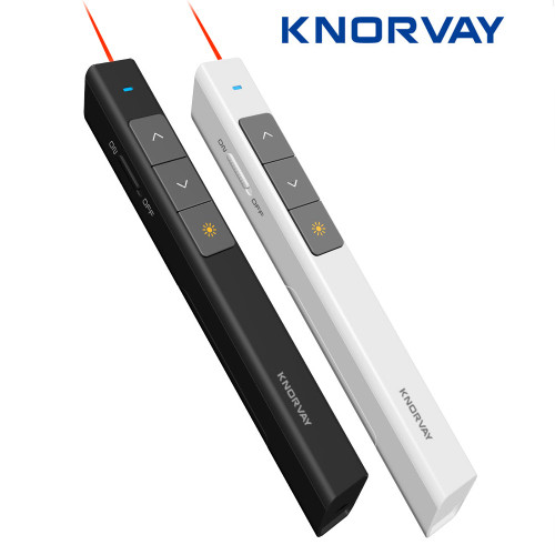 Knorvay 2.4GHz Wireless Presenter Remote Powerpoint Presenter Presentation Clicker PPT Pointer Laser Pen with USB Plug