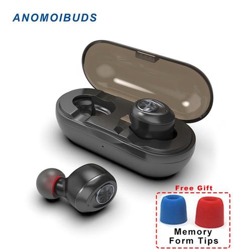 Anomoibuds Capsule TWS Wireless Earbuds V5.0 Bluetooth Earphone Headset Deep Bass Stereo Sound Sport Earphone For Samsung Iphone