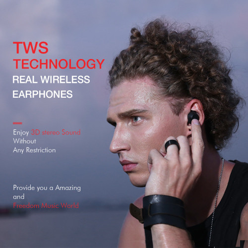 HAVIT TWS Bluetooth Earphone True Wireless Sport Earphone Waterproof Stereo Earbuds With Microphone for Handsfree Calls G1