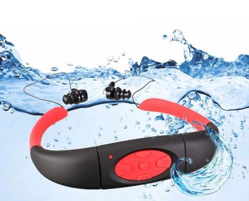 Summer 100% waterproof Sports MP3 W7 Music Player Underwater IP68 Neckband Swimming Diving with FM Radio earphone waterproof mp3