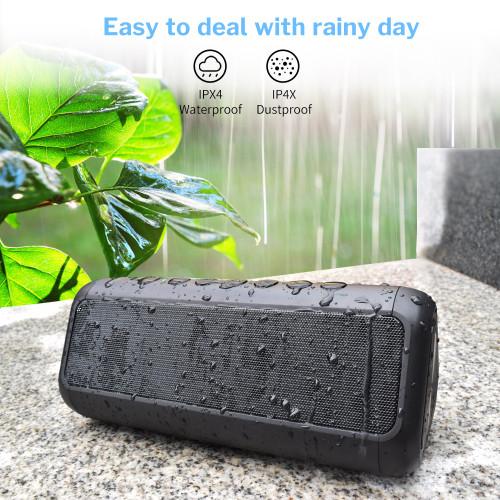 Deelife Bluetooth Speaker Waterproof Powerful Portable Speakers Wireless Solar Loudspeaker Power Bank AUX Outdoor Music Column
