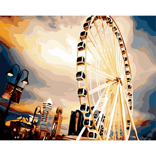 oil paint painting by numbers diy picture drawing coloring on canvas painting by hand wall paint landscape WQ24