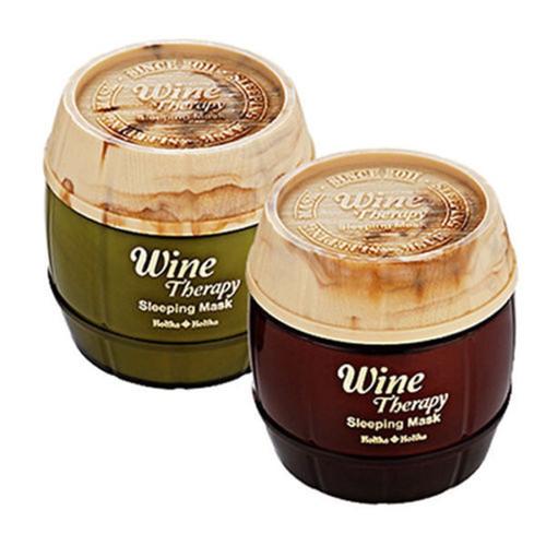 HOLIKA HOLIKA Wine Therapy Sleeping Mask Pack 120ml 2 type Choose one korean cosmetics Wine Products