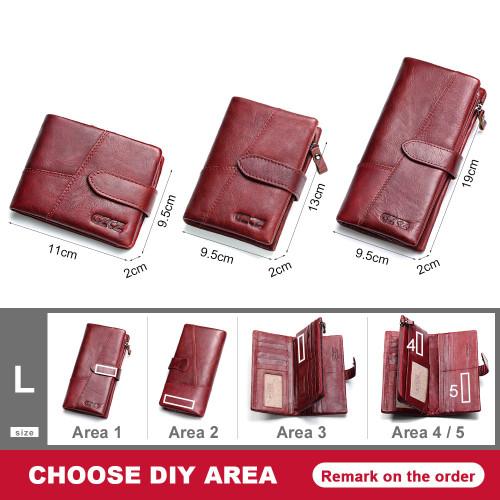 GZCZ Genuine Leather Women Wallet Lady Long Wallet Female Coin Purse Clamp For Money Women'S Purse Clutch Handy Portomonee Rfid