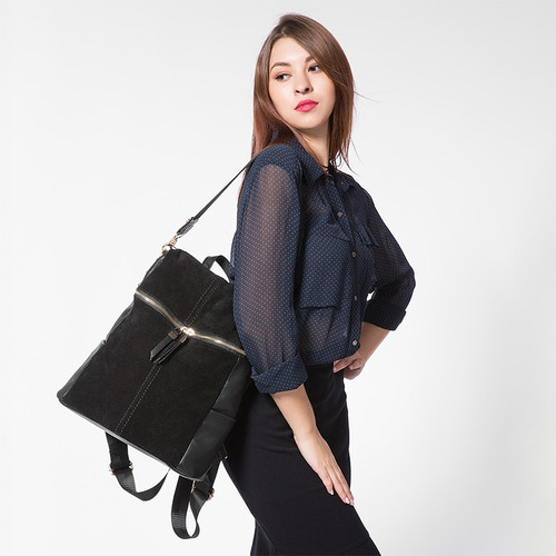 LOVEVOOK vintage women backpack nubuck leather PU school backpacks for teenage girls large capacity shoulder bags for women 2018