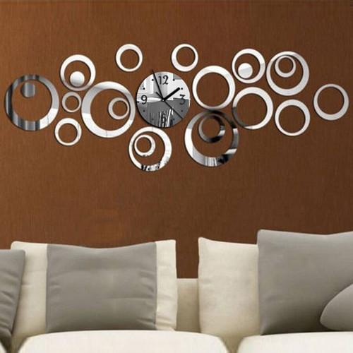 2016 New Quartz Wall Clock Modern Design Reloj De Pared Large Decorative Clocks 3d Diy Acrylic Mirror Living Room Free Shipping