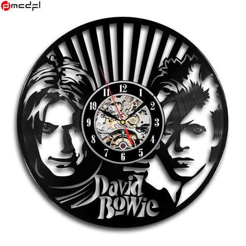 Home Decoration David Bowie 3D Art Mirror Quartz Wall Clock Vinyl Record Reloj De Pared Retro Sticker Best Selling Product