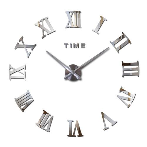 new real Europe  home decor wall clock acrylic mirror stickers quartz living room wall stickers modern clocks watch Needle