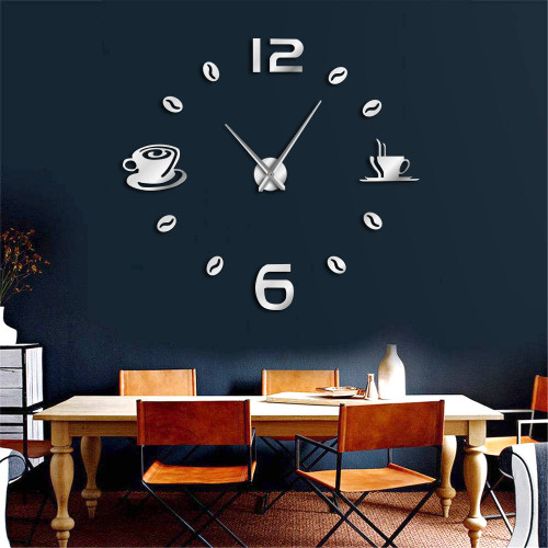 1Piece Fashion Watches Arrival Quartz Wall Clocks 3D DIY Big Wall Clock Mirror Wall Sticker DIY Living Room Home Decor Modern