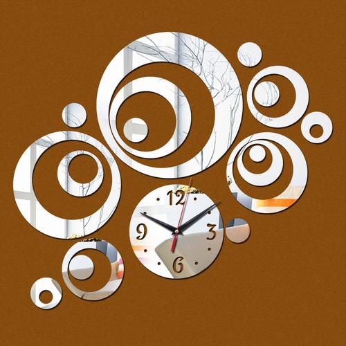 2016 New Wall Clock Horloge Modern Design Reloj De Pared Large Decorative Digital Watch Living Room 3d Diy Acrylic Mirror
