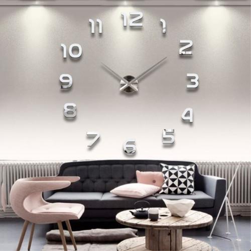Wall Clock Modern Design 2018 Big Wall Clock 3D DIY Mirror Sticker for Living Room Home Decor Fashion Watches Quartz Clocks