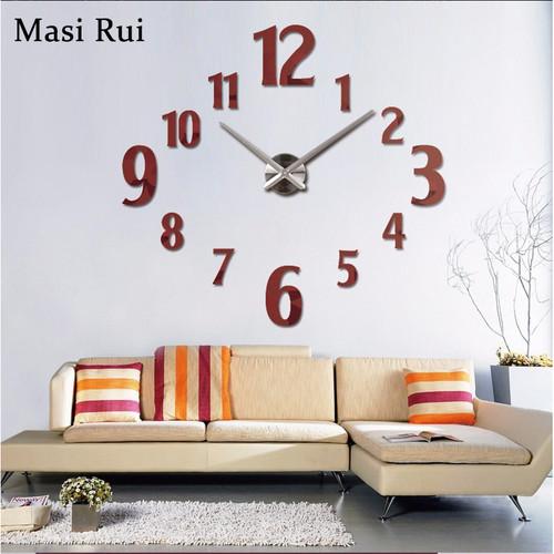 2018 new 3d diy wall clock horloge mirror Stickers Home Decoration Living Room  acrylic Quartz Needle wall clocks modern design