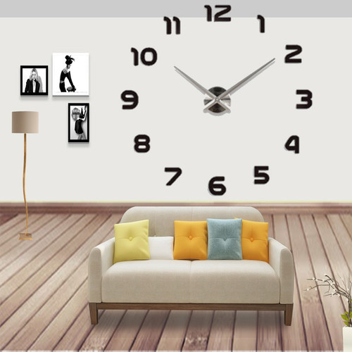 Modern Design 3d Big Wall Clock Home Decor Acrylic Mirror Wall Clock Sticker Living Room Creative reloj de pared Unique Gift