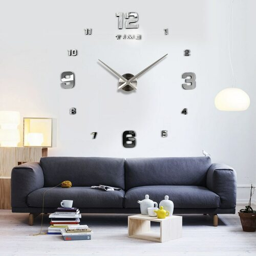 Freeshipping 2018 New Home decoration big mirror wall clock modern design 3D DIY large decorative wall clocks watch unique gift