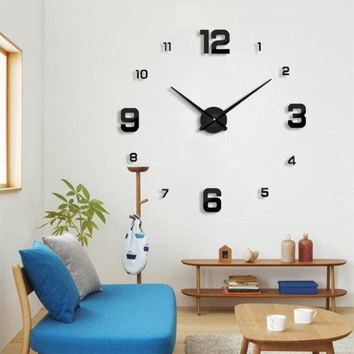 2018 New wall clock modern designHome decoration big mirror  3D DIY large decorative wall clocks watch unique gift Freeshipping