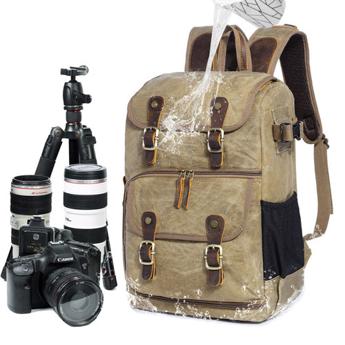 High Capacity Batik Canvas Fabric Photography Bag Outdoor Waterproof Camera Shoulders Backpack for Cannon/Nikon/Sony DSLR SLR