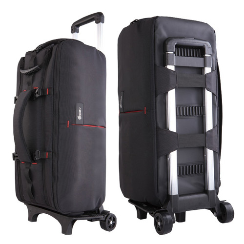Photo Camera Video Nylon Shoulders Backpack Trolley Case Thick Padded Waterproof for Canon Nikon Sony DSLR Long Lenses VD113V