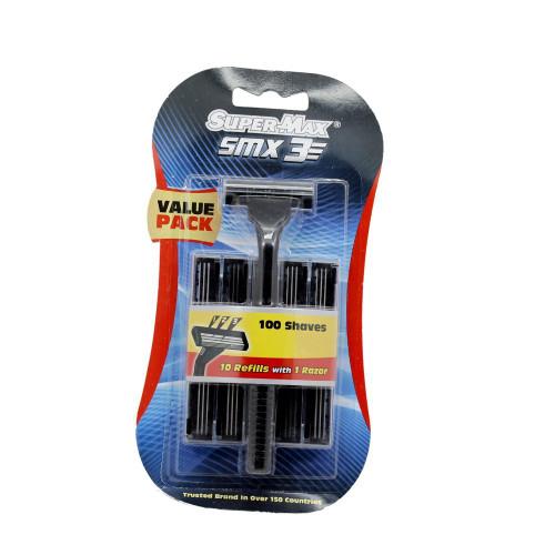 Inglis Lady SMX Swift 3 Manual Shaving Razor with 10 Blades Rw1001 (Super Max Smx-3 Blade Razor)