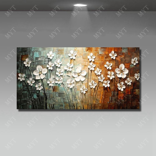 Chinese Wall Art Modern Living Room Wall Decor Flower Painting Large Canvas Art Hand Painted Wall Pictures No Framed