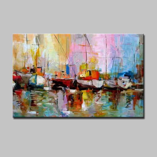 Mintura Oil Paintings Hand-Painted Canvas Oil Painting Modern Art Abstract Painting Wall Picture For Living Room Home Decoration