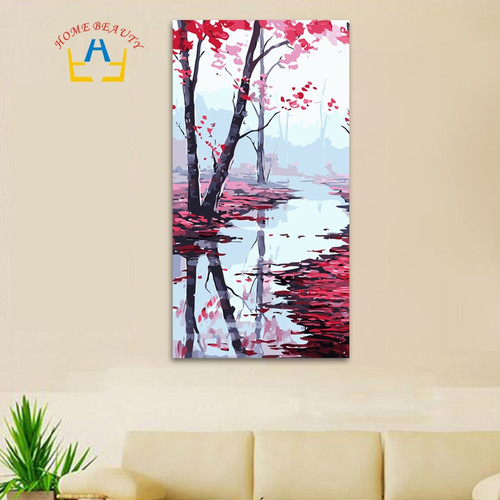 40*80cm large oil painting by numbers coloring drawing wall decor paint by number flowers hand painted canvas picture DY12