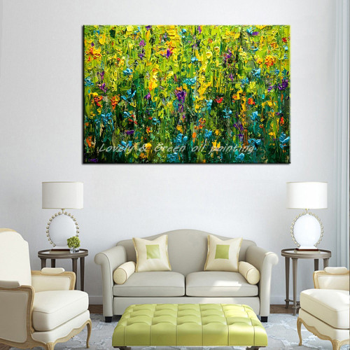 Hand Painted Canvas Paintings For Bedroom Decoration Pictures On The Wall Modern Abstract Oil Painting Unframed Canvas Art Wall