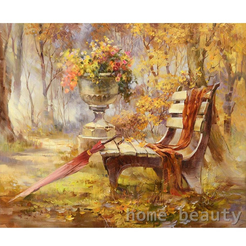 Diy digital oil painting by number paint drawing coloring by number canvas hand painted picture wall decor landscape E022