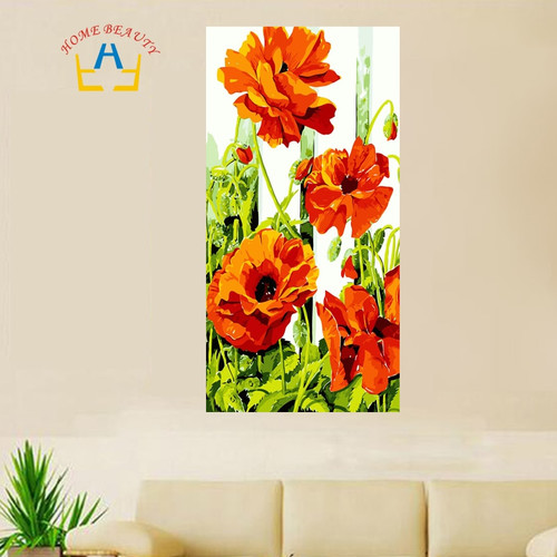 40*80cm large oil painting by numbers coloring drawing wall decor paint by number flowers hand painted canvas picture DY11