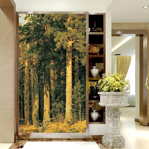 40x80cm large size painting by numbers on wall art Hand Painted Wall Decorations Living Room Trees Picture